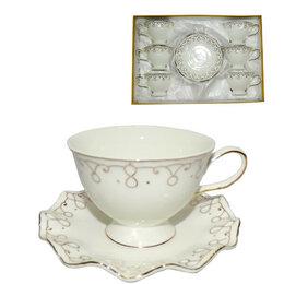 Кружки, блюдца и пары - Чайный набор 12пр, 0