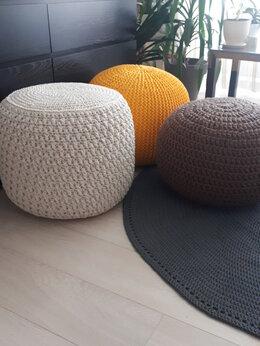 Кресла-мешки - Вяжу пуфы, ковры, подушки, 0