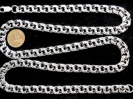 Цепи - Серебряная цепь бисмарк.Вес 50,6 грамм,длина 66 см, 0