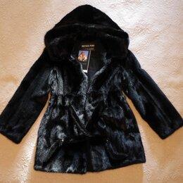 Шубы - Норковая шуба с капюшоном Imperia Furs, 0
