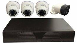 Камеры видеонаблюдения - Комплект видеонаблюдения 3 купольных и 1 уличная…, 0