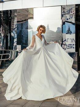 Платья - Атласное закрытое свадебное платье Ева, 0