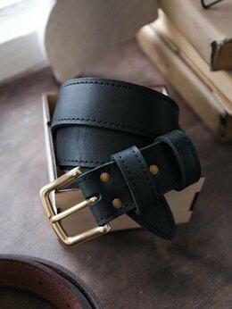 Ремни и пояса - Ремень кожаный мужской ручной работы , 0