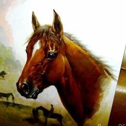Картины, постеры, гобелены, панно - Резервация(Лошадь), 50х60см, Картина маслом на холсте, художник, 0