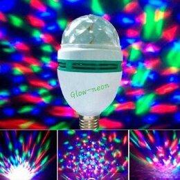 Лампочки - RGB LED Лампа для дискотек и вечеринок Е27 диско шар 3 Вт, 0