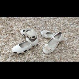 Балетки, туфли - Туфли на девочку белые, 0