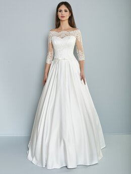 Платья - Атласное свадебное платье Кристина размер от 48…, 0