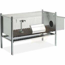 Сельскохозяйственные животные - Клетка для кроликов 102 см с гнездом для самки -…, 0