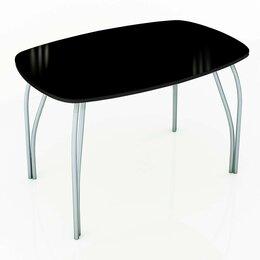 Столы и столики - Стол обеденный со стеклом Лотос (Лакобель), 0