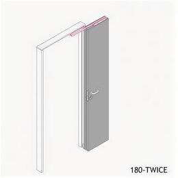 Защелки и завертки - Система Twice MORELLI 180-TWICE RIGHT 80/9009937, 0