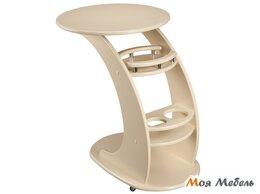 Столы и столики - Придиванный столик Люкс в цвете Дуб шампань, 0