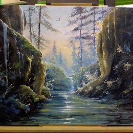 """Картины, постеры, гобелены, панно - Картина маслом. """"лесные пороги"""", 0"""