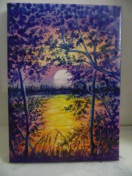 """Картины, постеры, гобелены, панно - """"Ночное озеро"""", 0"""