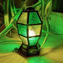 Ночники и декоративные светильники - Мини ночник-фонарик из цветного витражного стекла., 0