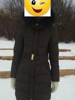 Пуховики - Зимний пуховик Pull&Bear цвета хаки, 0