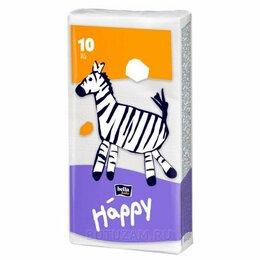 Влажные салфетки - Платочки детские бумажные Bella baby Звери 10 шт, 0