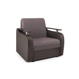 Кресла - Кресло-кровать «Гранд Д» рогожка латте и экокожа…, 0