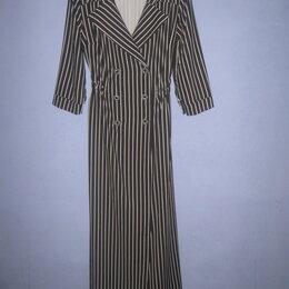 Платья - Платье-рубашка макси 42-44. , 0