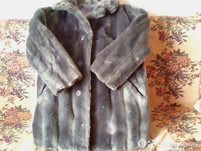 Шуба мужская р-р 48-52 искусственный  мех серо-голубой по цене 300₽ - Дубленки и шубы, фото 0