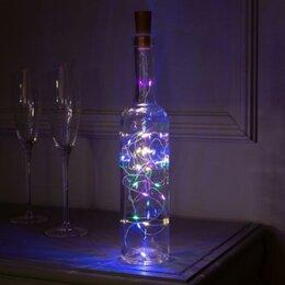 Ночники и декоративные светильники - Светильник-бутылка, бутылочная пробка с LED нитью, 0