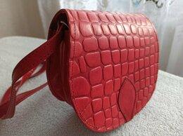 Сумки - Новая сумка из натуральной кожи, cross-body, 0