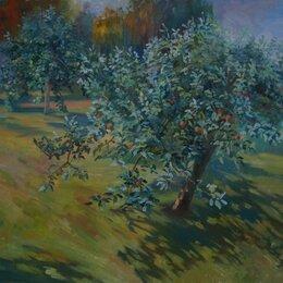"""Картины, постеры, гобелены, панно - Картина маслом """"Папина яблоня"""", 0"""