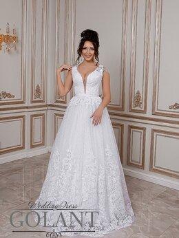 Платья - Непышное белое блестящее свадебное платье…, 0