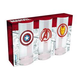 Бокалы и стаканы - Набор подарочных бокалов Мстители Марвел, 0