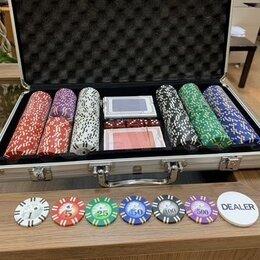 Настольные игры - Покер на 300 фишек, пластиковые Карты, 0