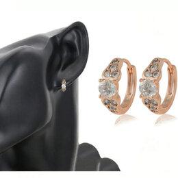 Серьги - Новые серьги - кольца с кристаллами (прозрачные), 0