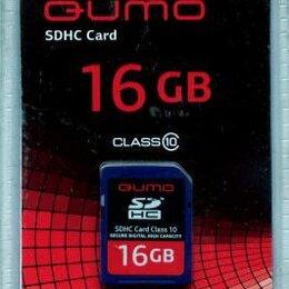 Карты памяти - Флеш карта sdhc Card Class 10 сиди 16 гигабайт Qumo новая в упаковке, 0