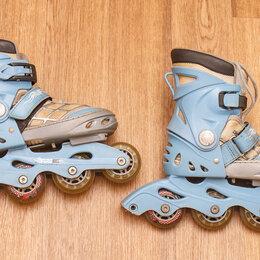 Роликовые коньки - Роликовые коньки детские 28-32 (раздвижные) в хорошем состоянии, 0