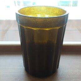 Посуда - Старый довоенный стакан. Грани ромашкой. Клеймо ИС, 0
