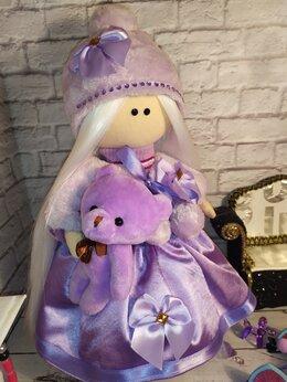 Куклы и пупсы - Кукла Тильда в сиреневом цвете, 0