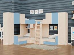 Кровати - Детская трехместная кровать для мальчиков ТРИО/3…, 0