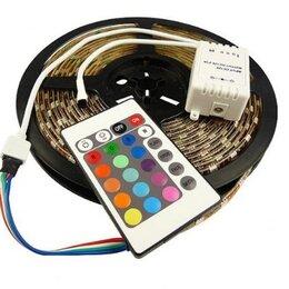 Светодиодные ленты - Светодиодная лента с пультом (блистер) 5м 4.4 W RGB 3528-60, 0