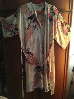 Домашняя одежда - Халат женский шелковый красивым принятом…, 0