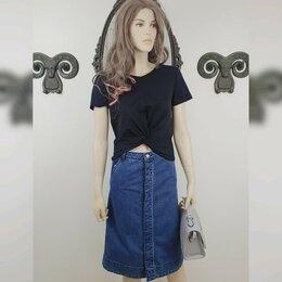Юбки - Длинная джинсовая юбка с пуговицами Ostin, 0