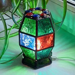 Ночники и декоративные светильники - Настольный витражный ночник в стиле Тиффани., 0