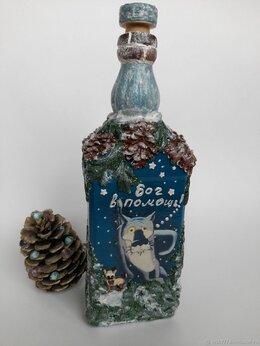 """Декупаж - Бутылка  для напитков """"Жил-был пёс""""  , 0"""