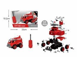 Конструкторы - Конструктор пожарная машина(31 дет)на бат(звук…, 0