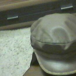 Головные уборы - кепка кожаная с ушками, 0