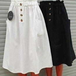 Юбки - Новая женская белая юбка миди 42/46 размер, 0