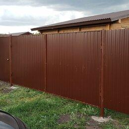 Заборы, ворота и элементы - Забор из профнастила.Ворота, 0