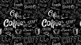 """Стеновые панели - Стеновая панель ПВХ (фартук) """"Кофе черный"""", 0"""