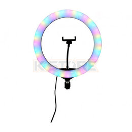 Осветительное оборудование - Кольцевая лампа RGB LED Soft Ring Light RL-13RGB (33 см), 0