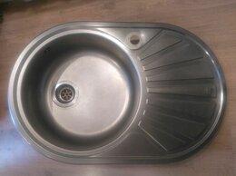 Кухонные мойки - Раковина овальная нержавейка (левый угол), 0
