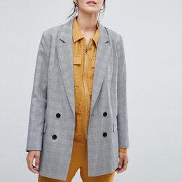 Жакеты - Новый двубортный жакет (пиджак) в клетку Vila ASOS, 0