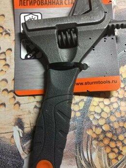 Сантехнические, разводные ключи - Разводной ключ Sturm 150 мм обрезиненная рукоятка, 0