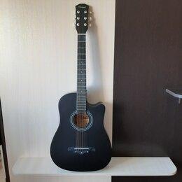 Акустические и классические гитары - Чёрная матовая гитара, 0